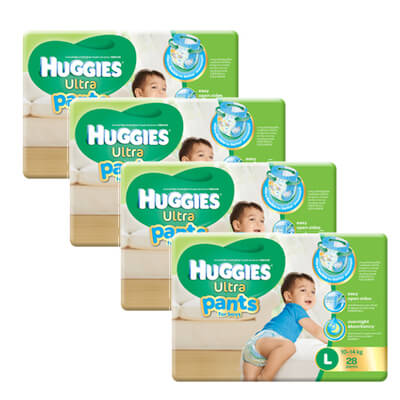 huggies boy pants L28 x 4