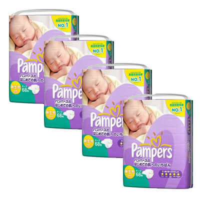 Pampers Premium NB68 x 4