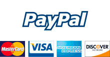 paypal payment visa mastercard discover american express
