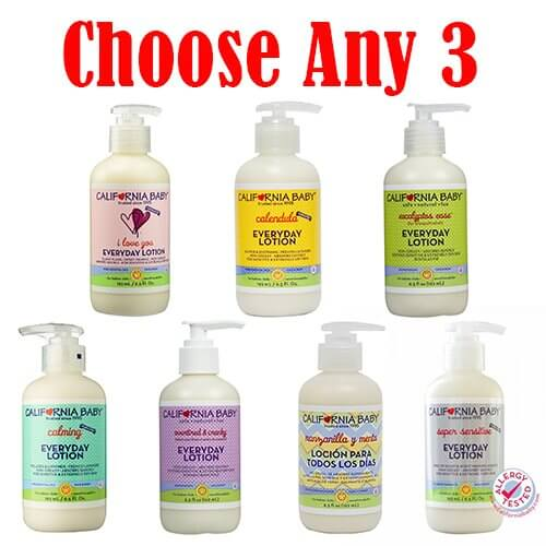 California Baby Lotion Mixed Bundle of 3