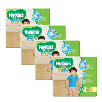 huggies boy pants XXL20 x 4