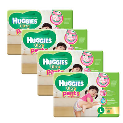 huggies girl pants L28 x 4