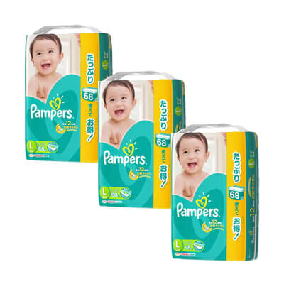 pampers L68 x 3